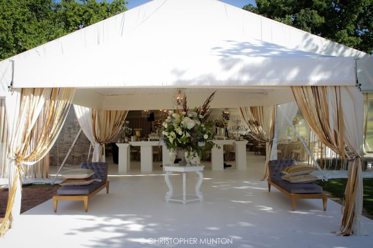 Sheer Glamour - an entrance marquee giving away of the what is to come. Photo by: Chris Munton