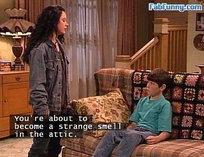 Roseanne!: You're about to become a strange smell in the attic