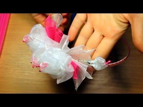 Цветы из органзы своими руками / A headband handmade