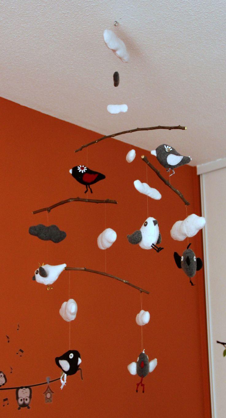 Mobile nuages et oiseaux à réaliser soi-même!