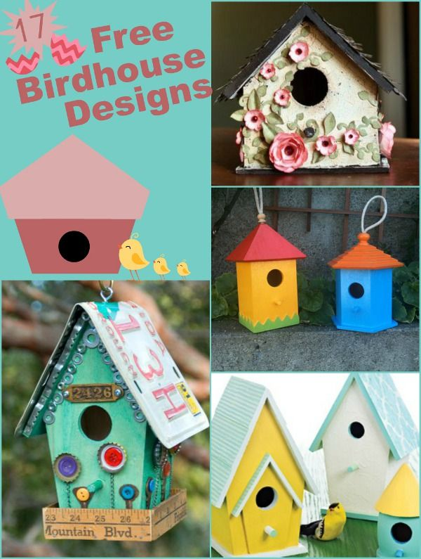 17 Free Birdhouse Designs Decorate your home, indoor and out, with this collection of free birdhouse designs. These birdhouse crafts are fun to make and also make low-cost gifts for any occasion. You will find free birdhouse designs for fall, summer and winter in this collection.