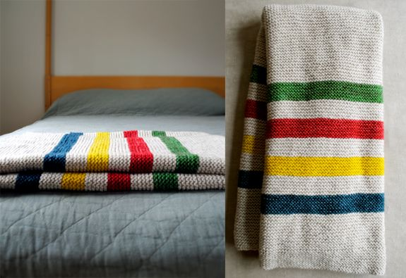 Want. Want very much. Cheers to Hoboken for the image and Purlbee for the deets    http://www.purlbee.com/hudson-bay-crib-blank/