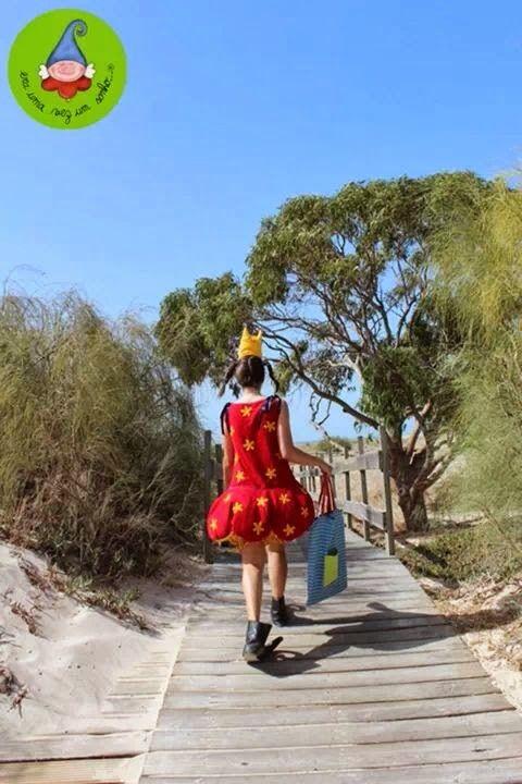Princesa Clarice vai a caminho da praia...
