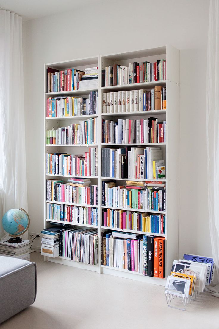 Co colour coordinated bookshelf - Ikea Billy Bookcases