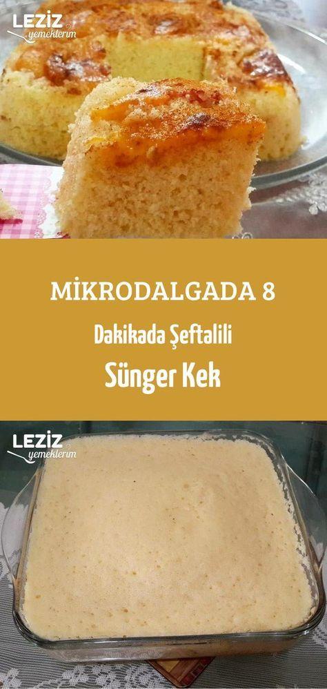 Pfirsich-Biskuit in der Mikrowelle in 8 Minuten   – kek