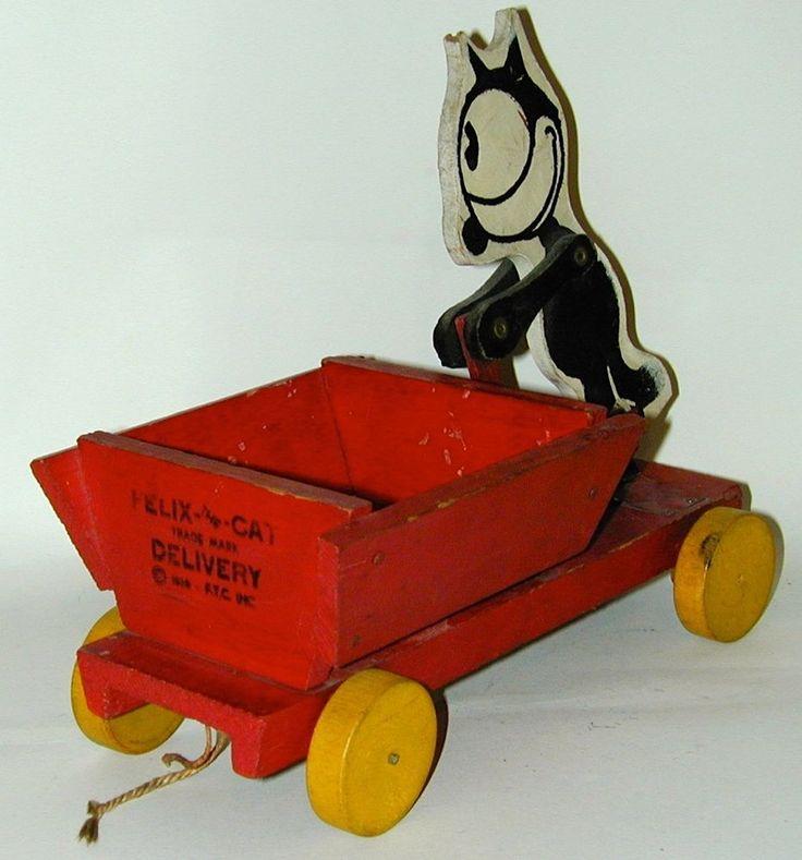 Cat Pulling Wagon : Best images about antique quot felix the cat on pinterest