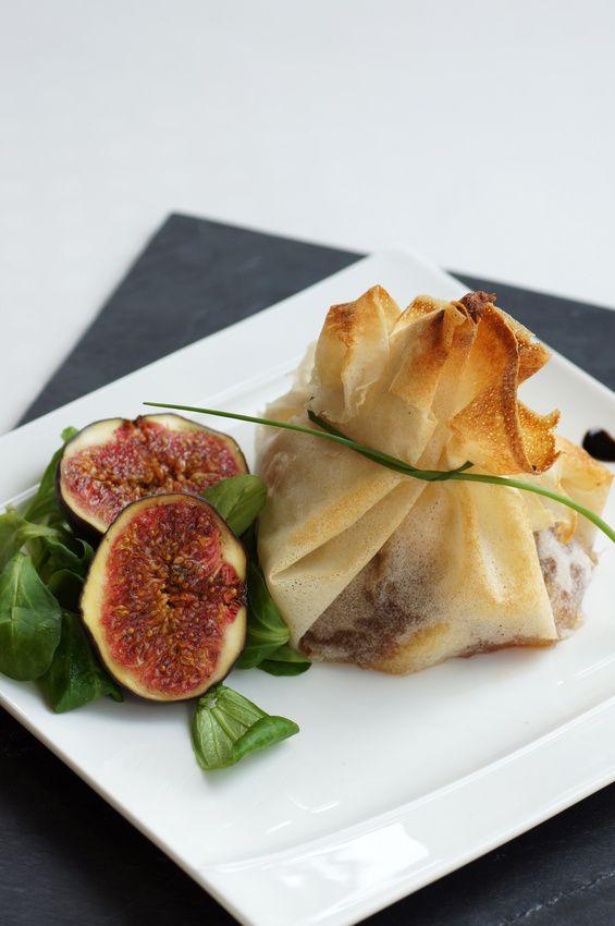 Croustillant de magret de canard au foie gras et figues : une recette de plat facile