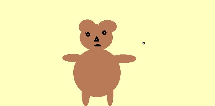 Poor old Ted, he did not start out life as a scary Teddy Bear but this is just the way he turned out. I was trying to draw a bear with the paint app on my...