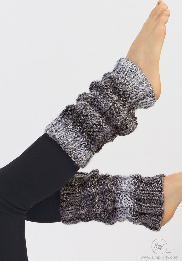 FOR RACHEL Stay warm this winter by knitting these stylish twisted stitch leg warmers! Visit the #Simplicity website for free online instructions