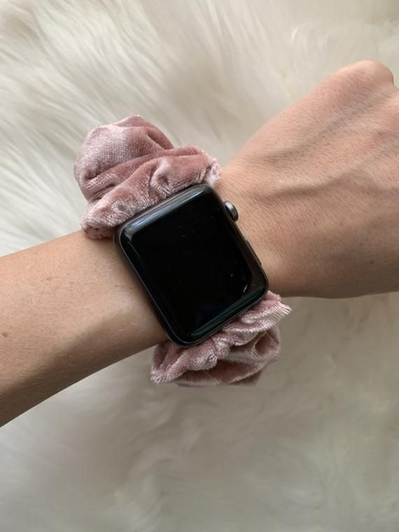 Luxe Crushed Velvet Apple Watch Scrunchie Band Scrunchy Band