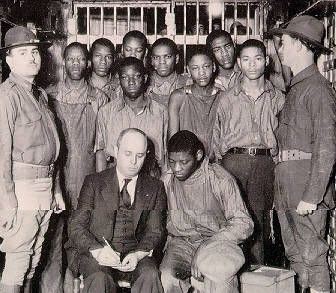 The Scottsboro Boys Trials were nine black teenage boys accused of rape in Alabama in 1931. The landmark set of legal cases from this incident dealt with racism and the right to a fair trial. The case included a frameup, an all-white jury, rushed trials, an attempted lynching, an angry mob, and is an example of an overall miscarriage of justice.