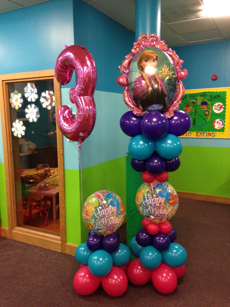 Frozen balloon centerpiece images for Decoration 4