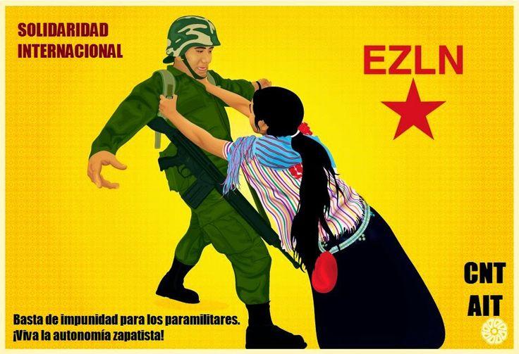 Pronunciamiento de CNT Fraga por el ataque paramilitar en Chiapas y carta de protesta a la embajada de México en el Estado Español