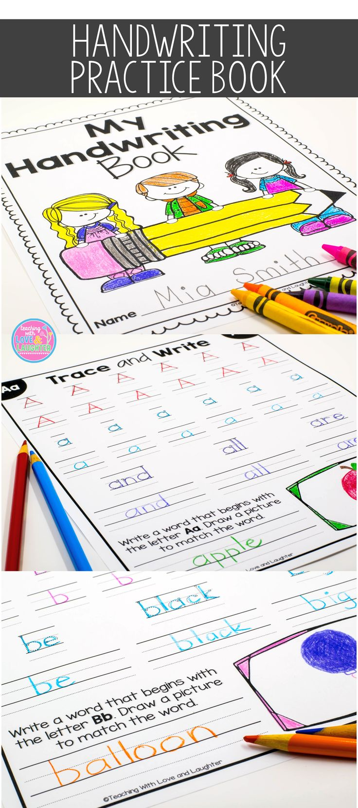 Give your students a chance to develop and perfect their handwriting skills  with this cute handwriting