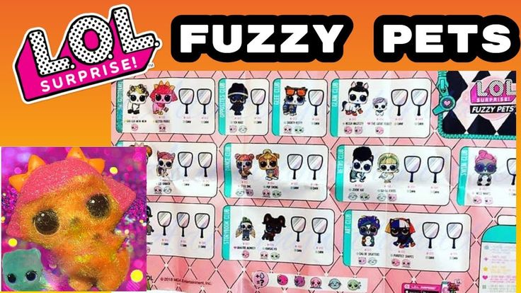 Actual FUZZY Pets Checklist from LOL Surprise Makeover