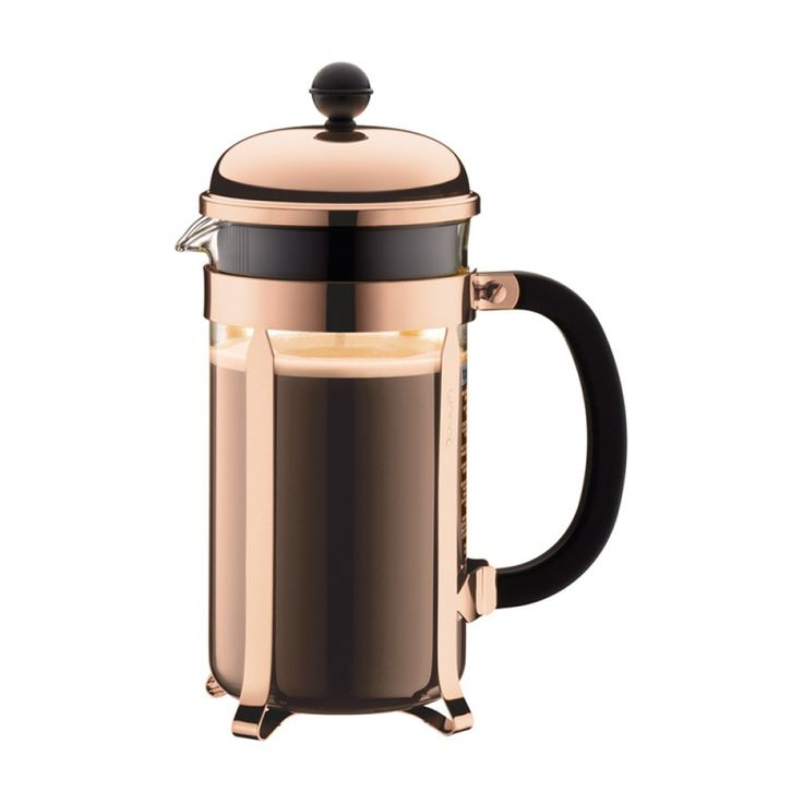 Bodum Chambord Copper 8-Cup French Press Coffee Maker | Perfect to make coffee for two! Decorated in a beautiful copper colour. $59.99