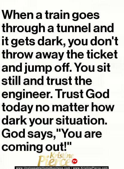 God will sustain us through the hard times