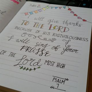 Psalm 7 {Bible Journaling}