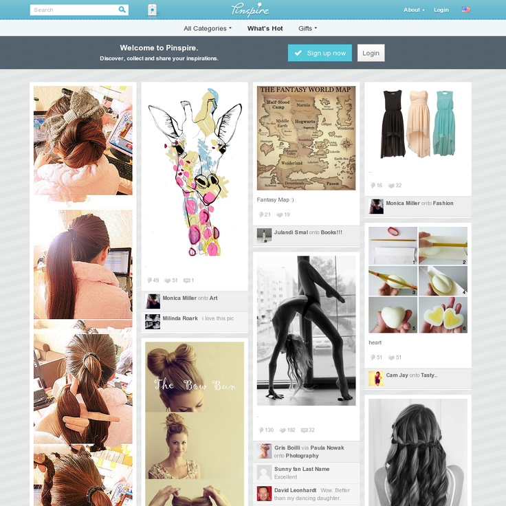 Welcome to Pinspire - collect and share your inspirations. At Pinspire you can browse thousands of pins to find the perfect style, product, recipe and more.