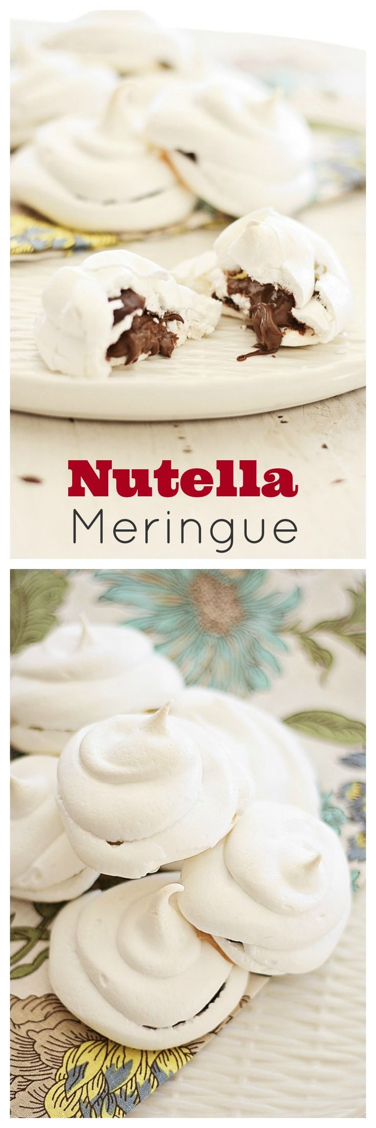Nutella Meringue - every bite is filled with thick gooey Nutella, airy, decadent, nutty and chocolatey | rasamalaysia.com