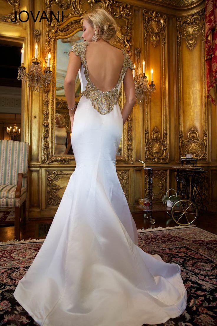 Cap sleeve Jovani mermaid gown
