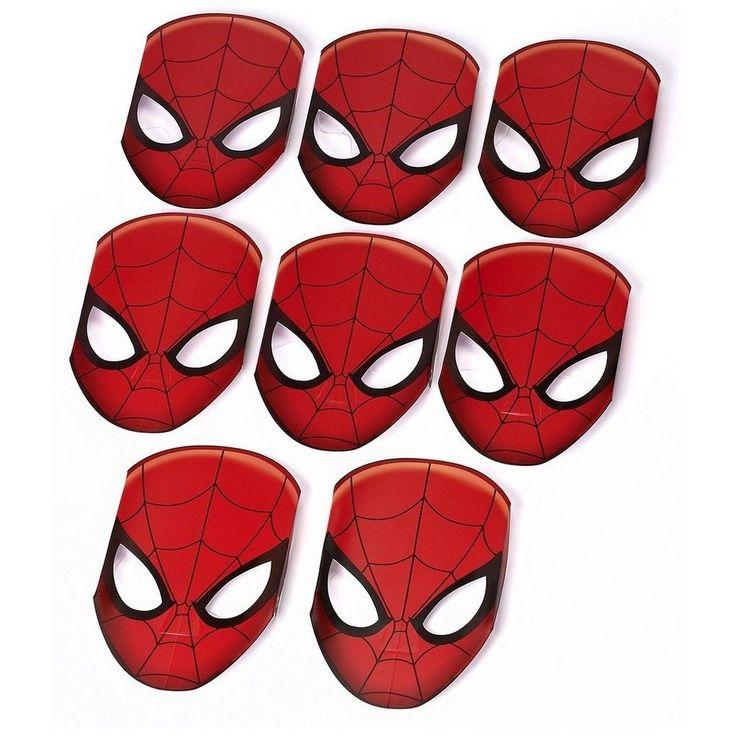 Spiderman Mask - 8ct,