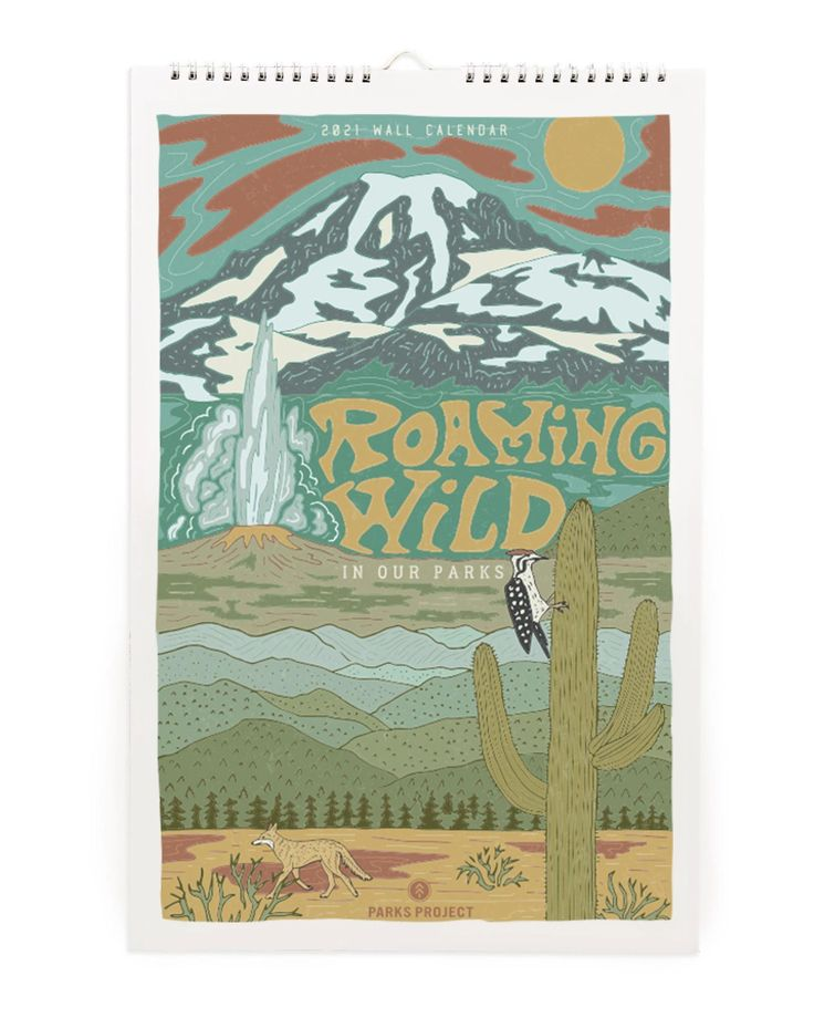 Roaming Wild 2021 Calendar in 2020 Park birthday, 2021