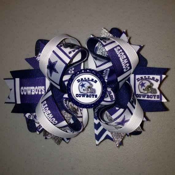 Dallas Cowboys Hair bow on Etsy, $8.00