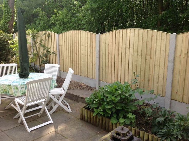 ARCHED TOP PRESSURE TREATED FEATHER EDGE FENCE PANELS ~ 6x5