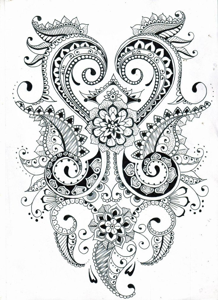 Henna Stencils: Zentangle Flower Patterns Printable