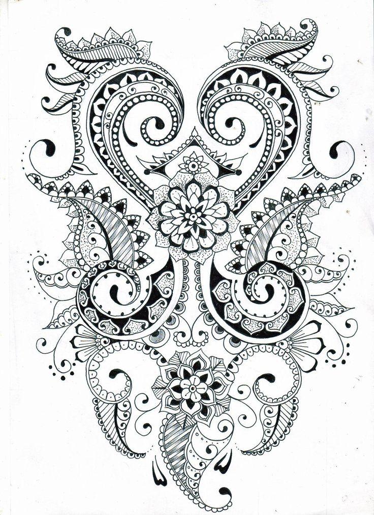 Mehndi Flower Drawing : Image gallery mehndi drawings