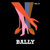 Bally Abstract Vintage Poster Print - hardtofind.