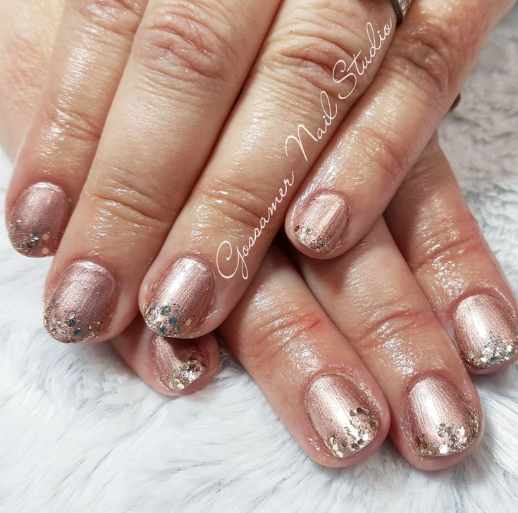 CND Shellac Nail Art by Gossamer Nail Studio,  glitter
