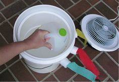 http://www.kitchendecorationidea.com/category/Portable-Air-conditioner/ Make your own DIY air conditioner with a 5 gallon bucket