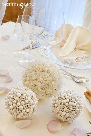 Idea per il #centrotavola chic con perle dalla Location matrimoni San Maurizio d'Opaglio (NO) - Ristorante Le Betulle
