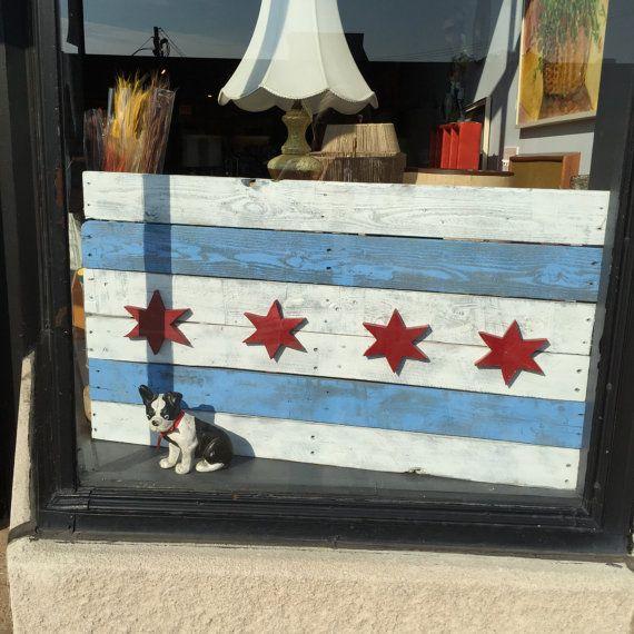 Chicago City Flag by NorthwestTreasureCo on Etsy