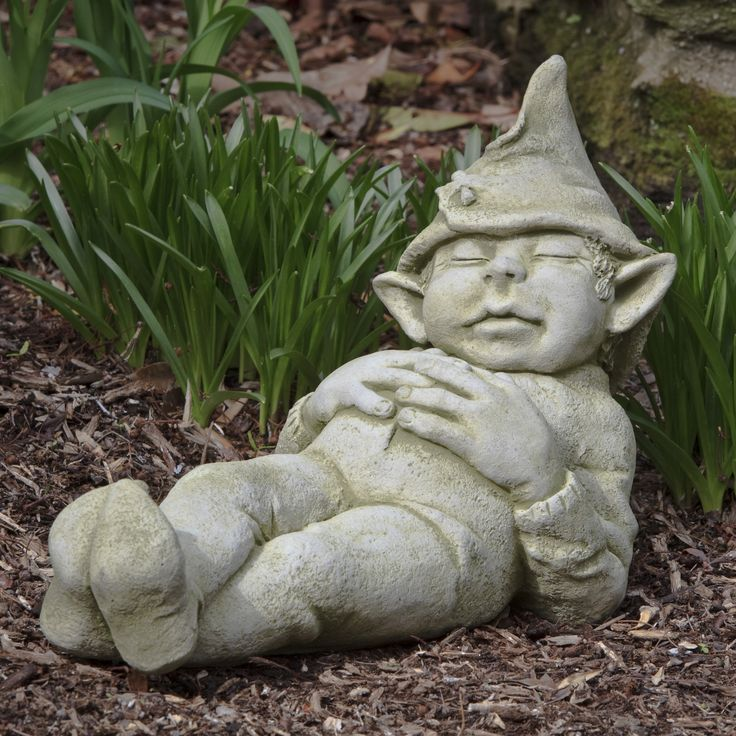 Campania International Gavin The Elf Cast Stone Garden Statue | from hayneedle.com