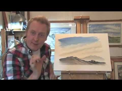 Paint a Mountain, Cloudy Sky in Watercolours. with Matthew Palmer