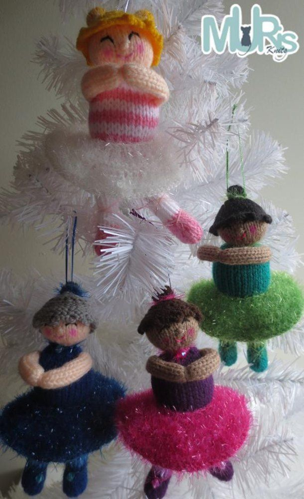 Holiday Ballerinas Ornament | Knitted Christmas Ornament Patterns ...