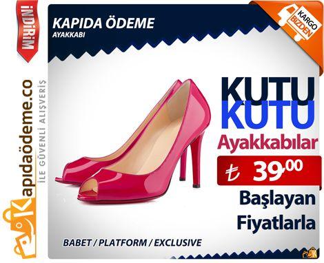 Kutu Kutu Ayakkabılar 39TL den başlayan fiyatlarla http://www.kapidaodeme.co 'da. Üstelik Kapıda Ödeme ve 9 Taksit Fırsatıyla. #kapidaodeme #kapidaode #kapıdaödeme #kapidaodemeayakkabi