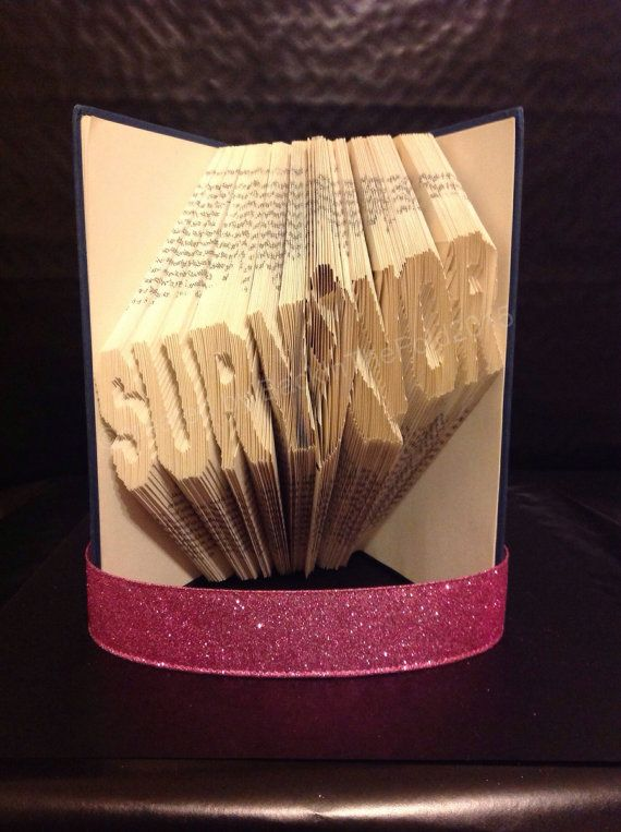 Folded Book Unique Gift Breast Cancer Survivor by BackInTheFold