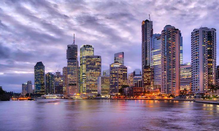 Brisbane sunset. Photo by Trey Ratcliffe. November 2015.