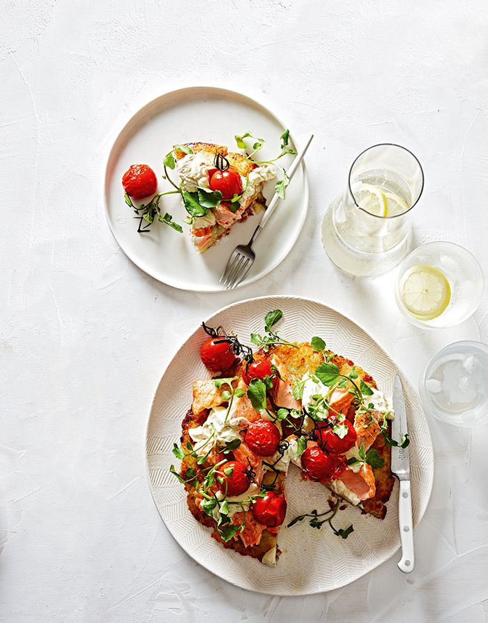A light and tasty meal with tarragon horseradish cream for a kick.