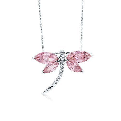 Dragonfly Pendant in Pink Cubic Zirconia CZ Sterling Silver BERRICLE. $43.19. Metal : Stamped 925. Stone Total Weight (ct.tw) : 7. Stone Type : Cubic Zirconia. Gender : Women. Save 64% Off!