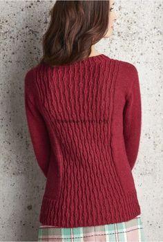 Вязаный спицами пуловер Charlecote