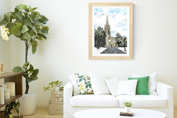 St Saviours Church Arklow Original by PaintingsbyPhilomena on Etsy