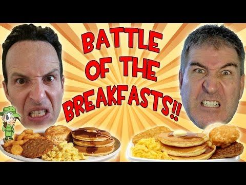 McDonald's Big Breakfast w/Hotcakes REVIEW - Breakfast Challenge With Peep This Out - YouTube