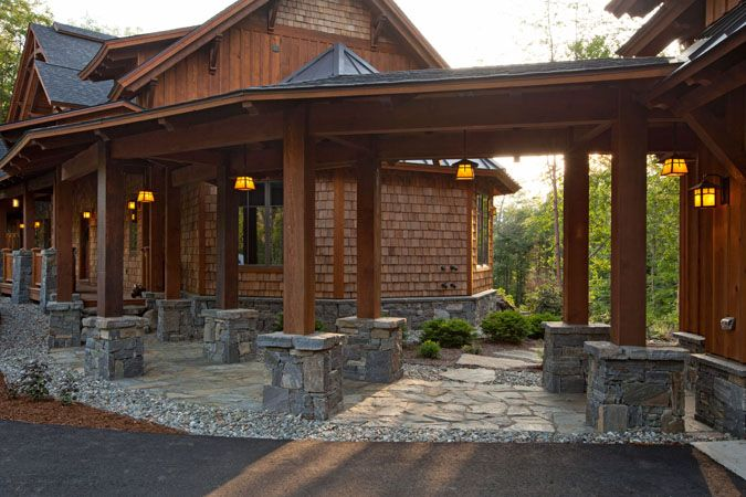 1000 ideas about timber frame homes on pinterest timber for Rock and cedar homes