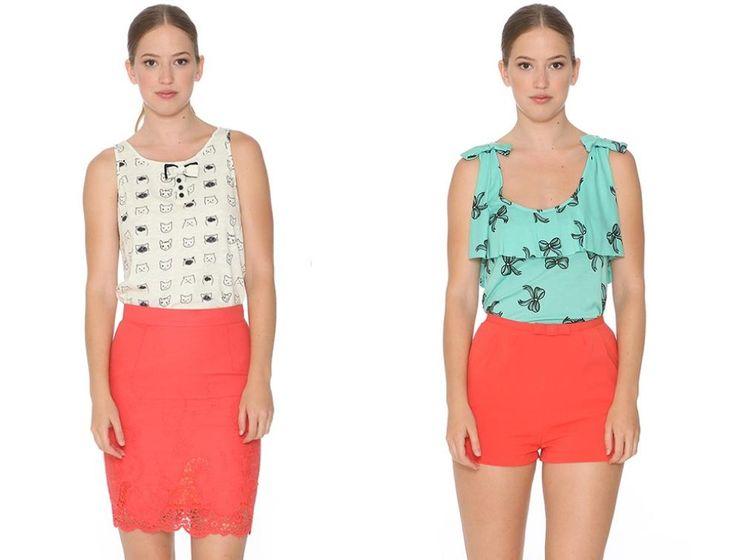 CORAL, el color del verano en versión falda lápiz o short con lacito! Un color muy favorecedor <3  FALDA > http://www.colettemoda.com/producto/falda-lapiz-coral/ SHORT >http://www.colettemoda.com/producto/short-coral/  #colettepalencia #moda #casual #rebajas