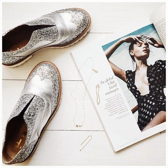 L'F Shoes glitter. Scarpe fatte a mano. Bellissime da mettere con un outfit semplicissimo.